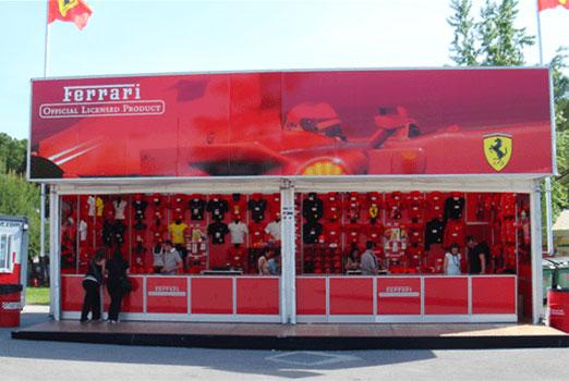 Stand de Ferrari. Precisport casos de éxito en Marketing Deportivo.